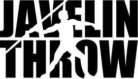 Javelin throw word with silhouette Stock Photo