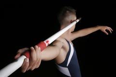 Javelin thrower. Athlete throwing javelin studio shot Stock Images