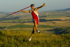 Javelin Thrower Royalty Free Stock Photo