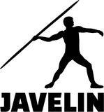 Javelin thrower with word Stock Images