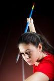 Javelin thrower Royalty Free Stock Photo