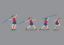Javelin Throwing Sport Action Sequence Stock Photo