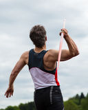 Javelin in track and field. An athlete in javelin in track and field Stock Photos