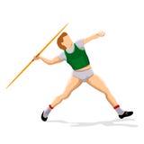 Javeline player Stock Image