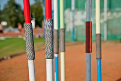 Javelins. Some javelin on the stadium Royalty Free Stock Images