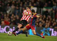 Javi Martinez fight with Mascherano Royalty Free Stock Images
