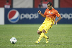 Javier Alejandro Mascherano. From FC Barcelona during the friendly football match between FC Dinamo Bucharest and FC Barcelona, 11th August 2012, National Royalty Free Stock Photography