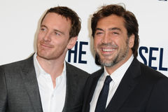 Javier Bardem,Michael Fassbender Royalty Free Stock Photo