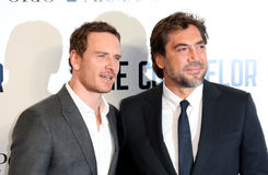 Javier Bardem,Michael Fassbender Royalty Free Stock Photos
