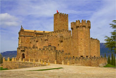 Javier Castle, tenth century, Navarra Stock Photo