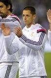 Javier Chicharito Hernandez av Real Madrid Royaltyfri Fotografi