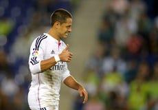 Javier Chicharito Hernandez av Real Madrid Royaltyfria Bilder