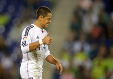 Javier Chicharito Hernandez de Real Madrid Images libres de droits