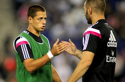 Javier Chicharito Hernandez of Real Madrid Stock Images