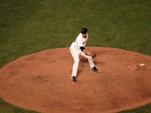 Javier Lopez winds-up to throw pitch Stock Photography