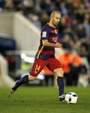 Javier Maschenaro av FCet Barcelona Arkivbilder