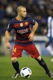 Javier Maschenaro de FC Barcelona Images stock