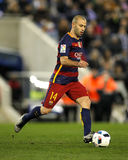 Javier Maschenaro do FC Barcelona Imagens de Stock