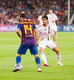 Javier Mascherano in action Royalty Free Stock Photography