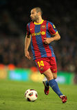 Javier Mascherano of Barcelona Stock Images