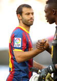 Javier Mascherano of FC Barcelona Stock Images