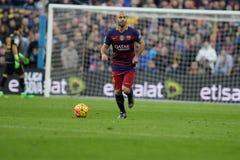 Javier Mascherano of FC Barcelona Stock Photo