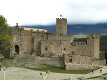 Javier middleage castle in Navarre Royalty Free Stock Photography