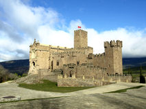 Javier middleage castle in Navarre Royalty Free Stock Photos