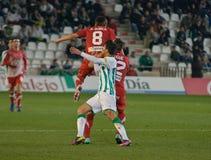 Javier Patiño from match league Cordoba vs Girona Stock Photo