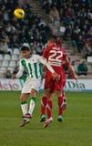 Javier Patiño from match league Cordoba vs Girona Stock Photography