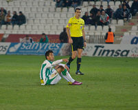 Javier Patiño from match league Cordoba vs Girona Royalty Free Stock Photos