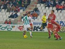 Javier Patiño from match league Cordoba vs Girona Royalty Free Stock Images