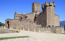 Javier-Schloss in Navarra Lizenzfreies Stockfoto