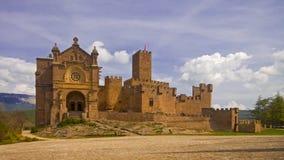 Javier-Schloss, zehntes Jahrhundert, Navarra Stockfotos