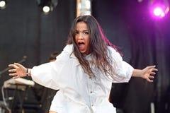 Javiera Mena (music artist) performs at MBC Fest Stock Photos