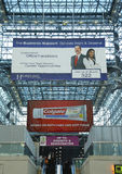 Javits Center convention center lobby. NEW YORK - DECEMBER 2  Javits Center convention center lobby on December 2, 2013 The convention center has a total area Royalty Free Stock Image