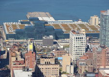 Javits Conference Center New York in Aerial Perspective Stock Photo