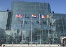 Javits Convention Center i Manhattan Arkivbilder
