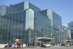 Javits Convention Center in Manhattan Royalty-vrije Stock Afbeelding