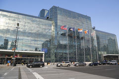 Javits Convention Center in Manhattan Royalty Free Stock Images