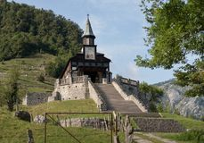 Javorca church - a memorial to fallen Austro-Hungarian soldiers from the First World War in Triglav national park in Julian Alps i Royalty Free Stock Photography