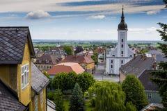 JAVORNIK - republika czech - CZERWIEC 07, 2017: Lato widok Javorn Fotografia Royalty Free