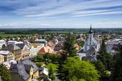 JAVORNIK - republika czech - CZERWIEC 07, 2017: Lato widok Javorn Zdjęcie Royalty Free