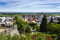 JAVORNIK - republika czech - CZERWIEC 07, 2017: Lato widok Javorn Obraz Royalty Free