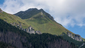 Javorova Valley in Tatry Mountains in Slovakia Stock Image