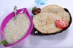 Javvarisi Payasam, Sabudana Kheer, pärlemorfärg pudding för tapiokor royaltyfri bild