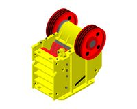 Jaw crusher 3D. Factory equipment Royalty Free Stock Photo