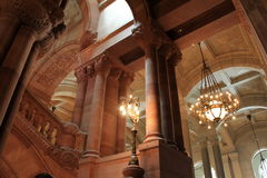 Jaw-droppping view of architecture inside The Grand Staircase,Albany State Capitol Building,New York,2015 Stock Photo