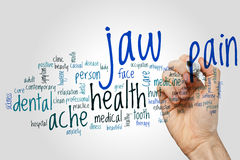 Jaw pain word cloud Royalty Free Stock Photography