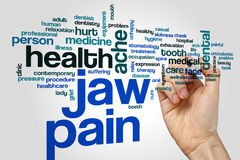 Jaw pain word cloud. Concept royalty free stock photos